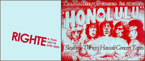 Rolling Stones Honolulu 1973 Concerts - Righter Than They've